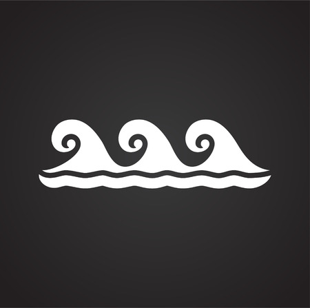Illustrazione per Waves icon on background for graphic and web design. Simple vector sign. Internet concept symbol for website button or mobile app - Immagini Royalty Free