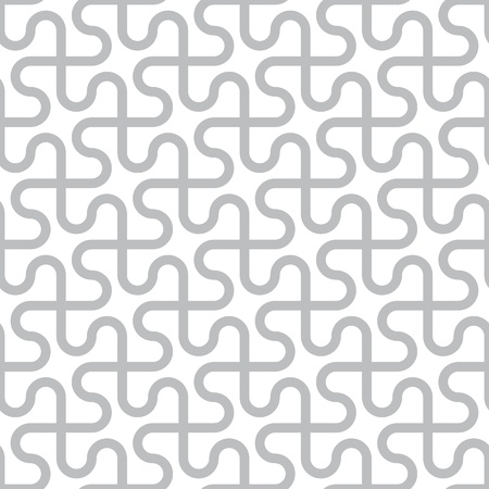Photo for Vector abstract seamless pattern - curved gray lines on a white background - Royalty Free Image