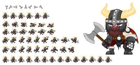 Illustration pour Animated viking game character - image libre de droit