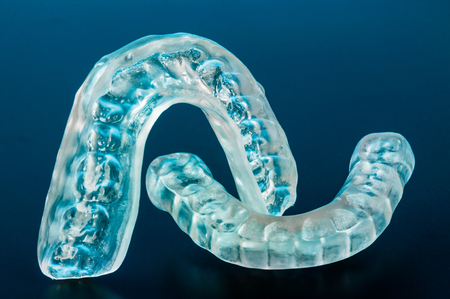 Photo for Dental splint to prevent bruxism - Royalty Free Image
