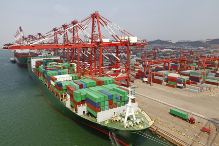 Photo for China Qingdao port container terminal - Royalty Free Image