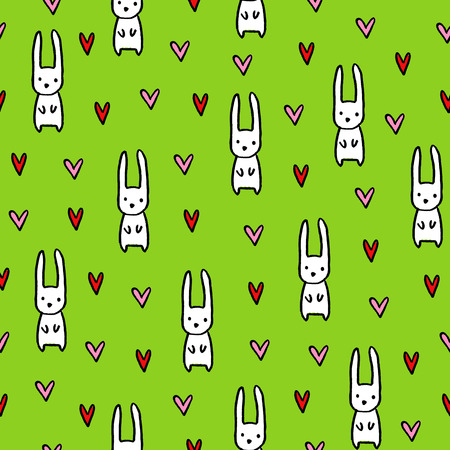 Illustration pour Seamless hand drawn summer pattern. Vector colorful background in kids theme. Design for prints, shirts and posters. - image libre de droit