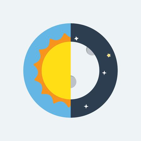 Ilustración de Equinox half day half night. - Imagen libre de derechos