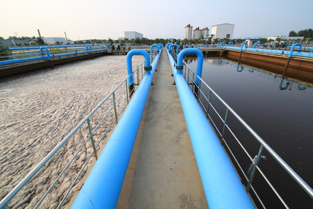 Foto de Part of a waste water treatment scene - Imagen libre de derechos