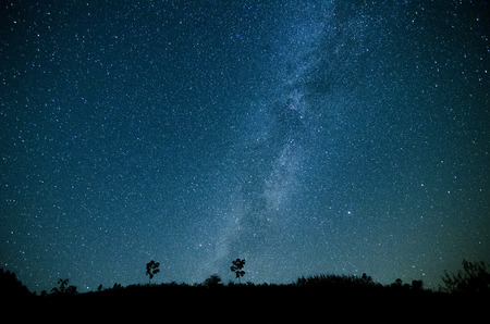 Photo for Milky Way Galaxy, Night Sky with Amazing Stars. - Royalty Free Image