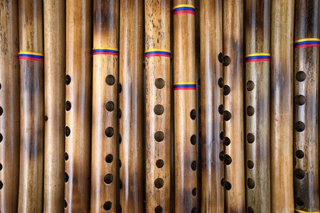Photo for Andean flutes closeup in Ecuador - Royalty Free Image