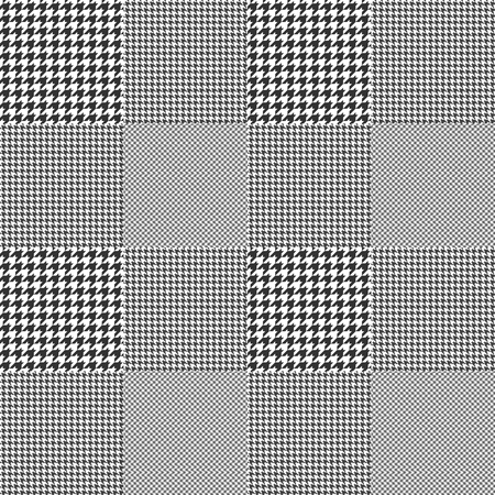 Illustration for Glen plaid. Seamless fabric texture pattern. - Royalty Free Image