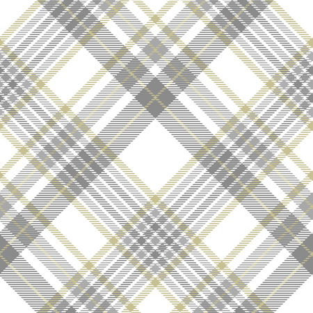 Illustration for Plaid pattern in gray, white and golden tan. - Royalty Free Image