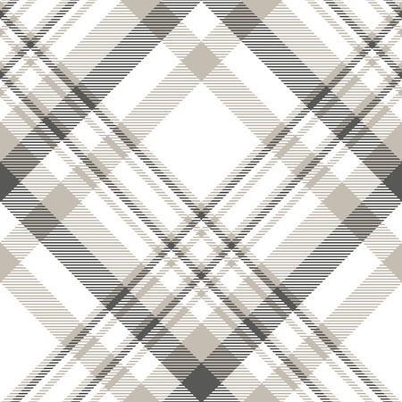 Illustration for Plaid pattern in slate grey, pale taupe and white. - Royalty Free Image