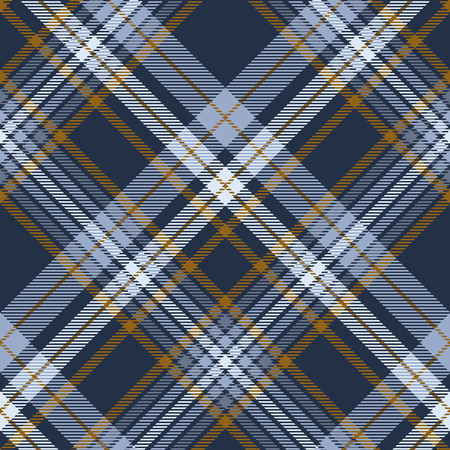 Ilustración de Plaid pattern in dusty blue, faded navy and brown. - Imagen libre de derechos
