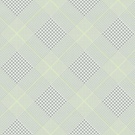 Ilustración de Prince of Wales check pattern in faded green. - Imagen libre de derechos