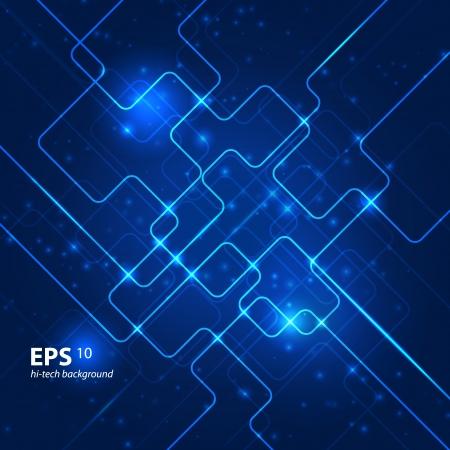 Illustration pour Abstract hi-tech blue background.  - image libre de droit