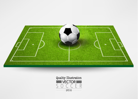 Illustration pour Creative Soccer Football Vector Graphic Design Illustration - image libre de droit