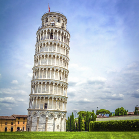 Photo for Leaning Tower of Pisa in Tuscany, one of the most recognized and famous buildings in the world. - Royalty Free Image