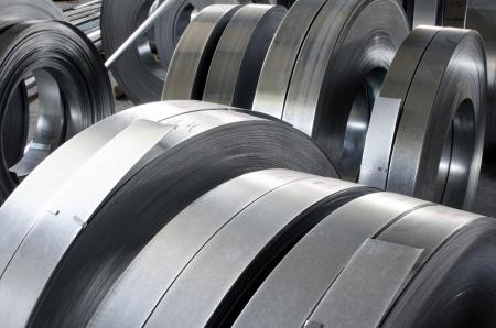 Photo pour sheet tin metal rolls - image libre de droit