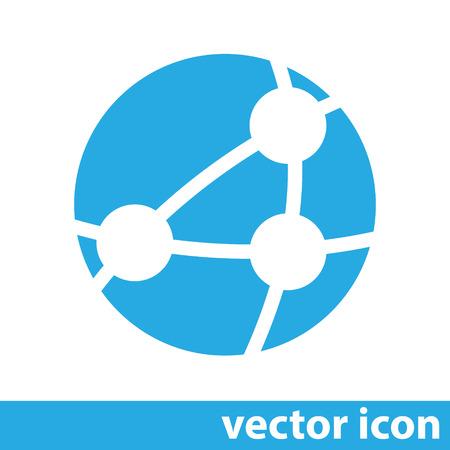 Ilustración de global network vector icon - Imagen libre de derechos