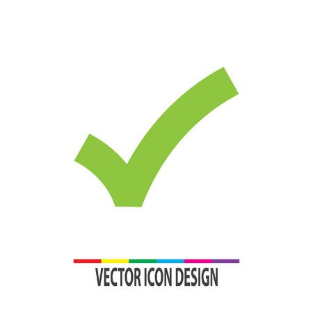 Illustration pour ok sign checkmark vector icon - image libre de droit
