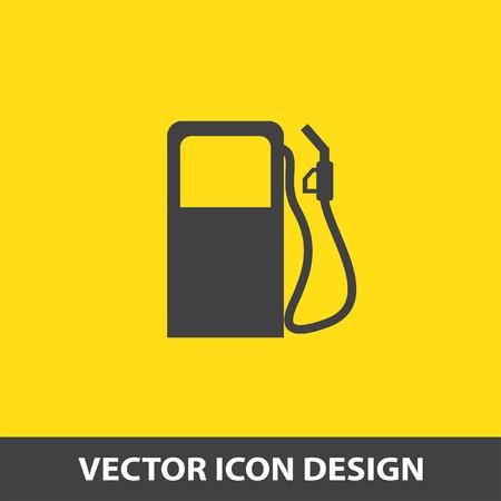 Illustration pour gas station pump vector icon - image libre de droit