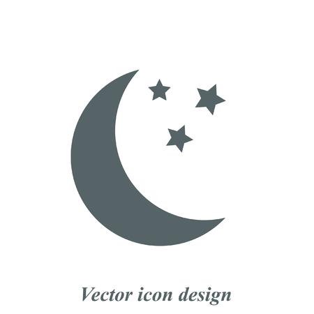 Ilustración de moon vector icon - Imagen libre de derechos