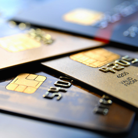 Photo pour Stack of various credit cards - image libre de droit