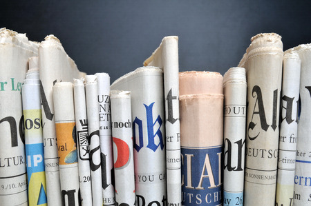 Photo for Row of newspapers - Royalty Free Image