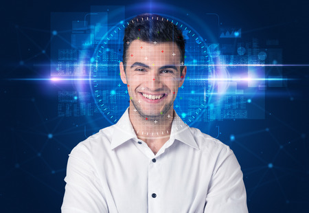 Photo for Facial recognition system - Royalty Free Image