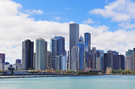 Chicago city urban skyline