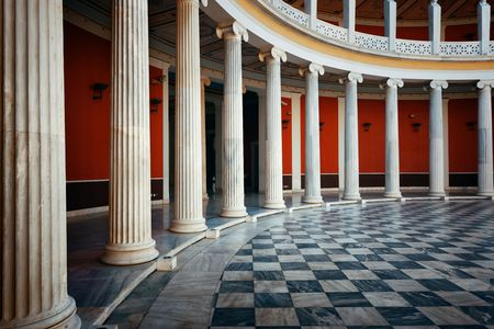 Photo pour ATHENS - SEP 26: Closeup view of Zappeion Hall on September 26, 2016 in Athens, Greece. It is generally used for both official and private meetings and ceremonies. - image libre de droit