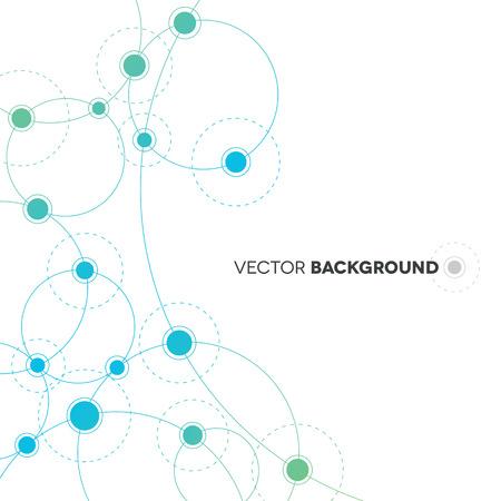 Illustration pour Network Background Design - image libre de droit
