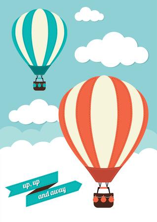 Illustration pour Hot Air Balloos - image libre de droit