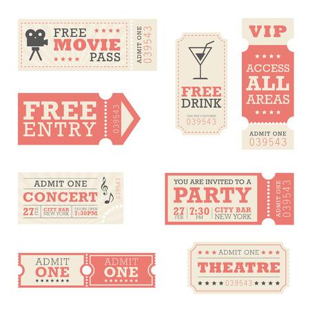 Illustration pour Entertainment Tickets - image libre de droit