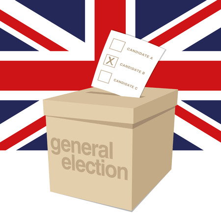Illustration pour Ballot Box for a UK General Election - image libre de droit
