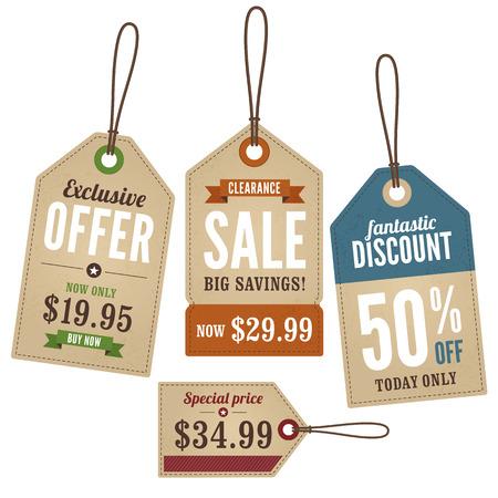 Illustration pour Vintage Retail Swing Tags - image libre de droit