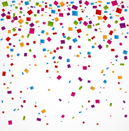Illustration pour Colorful confetti on white background - image libre de droit