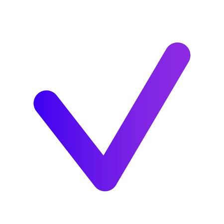 Illustration pour Thin Checkmark. Purple gradient. The web icon of a Checkbox icon. Professional web design. - image libre de droit