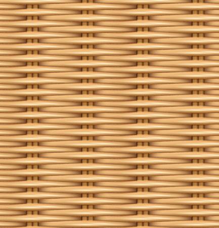 Ilustración de Seamless pattern realistic texture of woven rattan. The texture of the wooden basket. Vector illustration. - Imagen libre de derechos