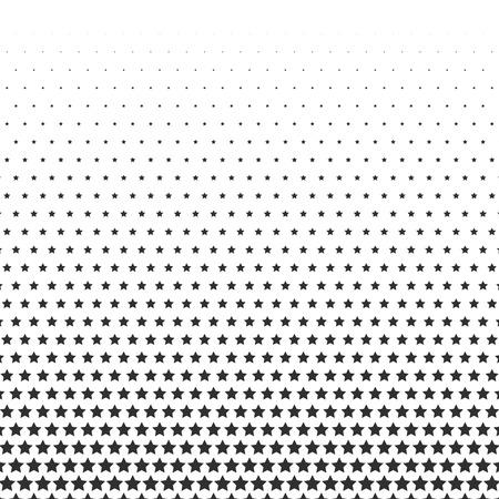 Ilustración de Halftone effect with stars on white background. - Imagen libre de derechos