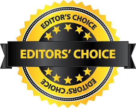 Illustration pour Editors Choice Quality Product Badge - image libre de droit