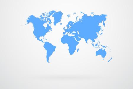 Illustration for Blue World Map  - Royalty Free Image
