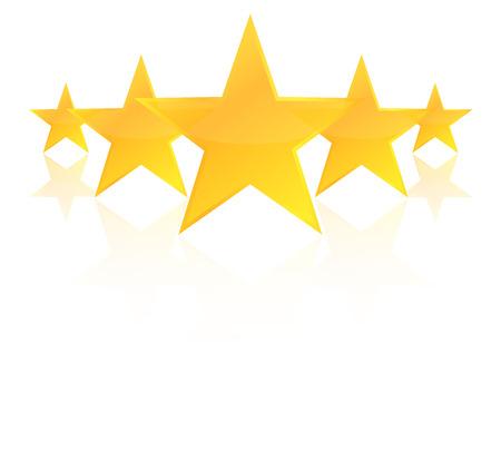 Ilustración de Five Star Product Quality Rating With Reflection - Imagen libre de derechos