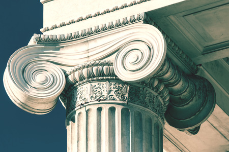 Photo for Vintage Old Courthouse Column - Royalty Free Image