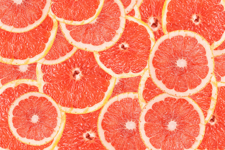 Photo for Grapefruit Slice Abstract Seamless Pattern - Royalty Free Image