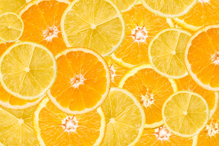 Photo for Orange And Lemon Slice Abstract Seamless Pattern - Royalty Free Image