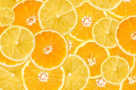 Photo pour Orange And Lemon Slice Abstract Seamless Pattern - image libre de droit