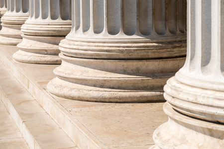 Photo for Composite Greek Style Columns Row - Royalty Free Image