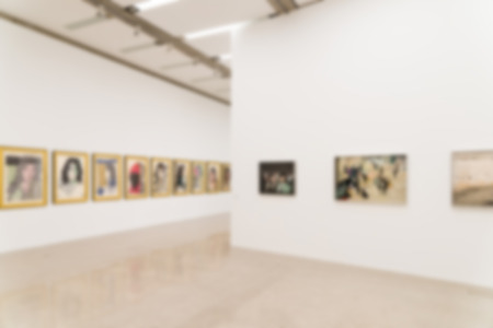 Photo for Blur Photo Of Art Gallery Interior - Royalty Free Image
