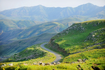 Photo for Selim mountain pass in Armenia, part of the ancient Silk Road - Royalty Free Image