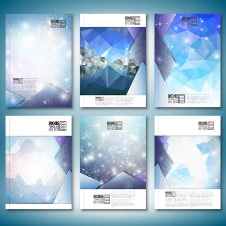 Ilustración de Abstract winter design background with snowflakes.  - Imagen libre de derechos