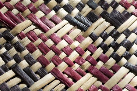 Foto de Woven flax (close up ) traditional Maori culture artwork New Zealand. - Imagen libre de derechos