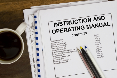 Photo pour Operating instruction manual - image libre de droit